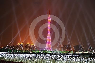 Guangzhou Tower Editorial Stock Photo