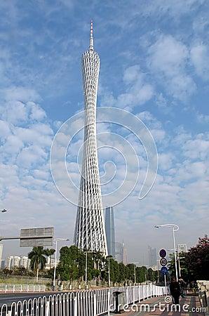 Guangzhou Tower Editorial Stock Image
