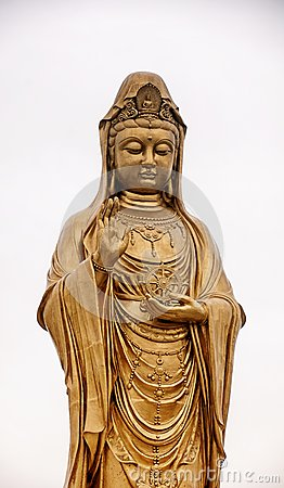 Free Guanyin Buddhist Statue Putuoshan China Stock Images - 111276024