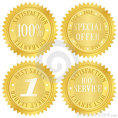 Free Guarantee Golden Label Stock Images - 8944774