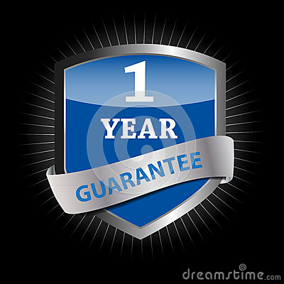 Guarantee label shield vector illustration