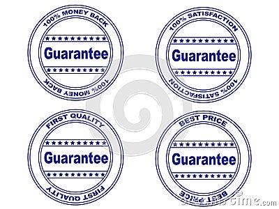 Guarantee stamp set (vector)