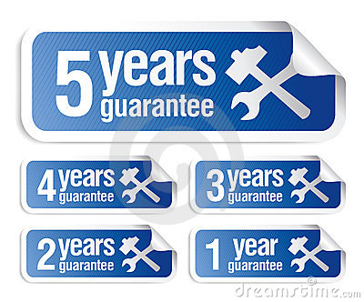 Guarantee stickers set