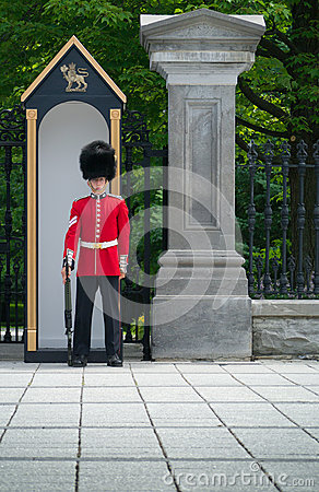 Guard at attention Editorial Image