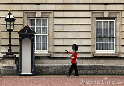 Guard at buckingham palace Editorial Stock Photo