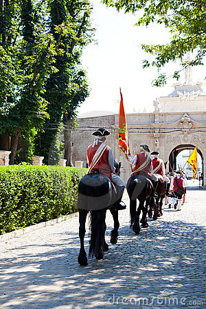 The guard change at Alba Iulia Fortress Editorial Photo