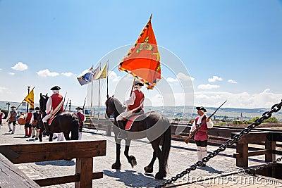 The guard change at Alba Iulia Fortress Editorial Stock Photo