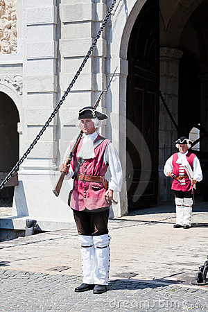 The guard change at Alba Iulia Fortress Editorial Photography