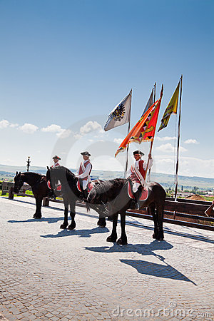 The guard change at Alba Iulia Fortress Editorial Image