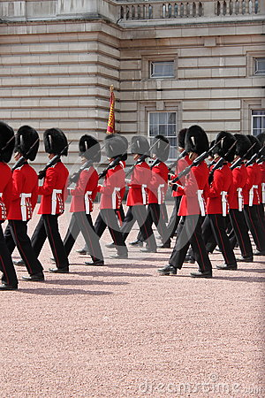 Guard change in Buckingham Palace Editorial Stock Photo