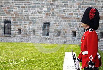 On guard at the Citadelle Quebec City Editorial Photography
