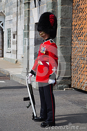 On guard at the Citadelle Quebec City Editorial Image