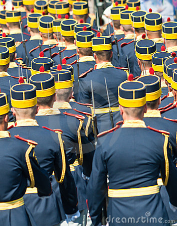 Guard contingent parade at Navy Day Editorial Stock Photo
