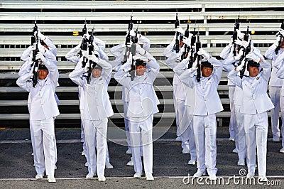 Guard-of-Honor contingent firing feu de joie Editorial Photo