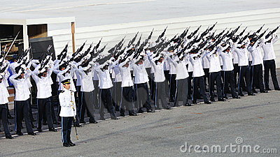 Guard-of-Honor contingent firing feu de joie Editorial Photography