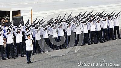 Guard-of-Honor contingent firing feu de joie Editorial Photography