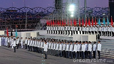 Guard-of-honor contingents at NDP 2009 Editorial Photo