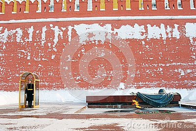 Guard of honour. Eternal flame. Moscow Kremlin. Editorial Photography