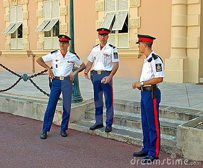 Guard - Monaco Editorial Photography