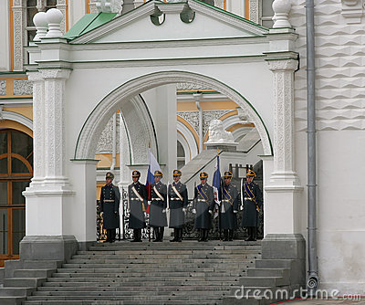 Guard of the Moscow Kremlin-4 Editorial Stock Photo