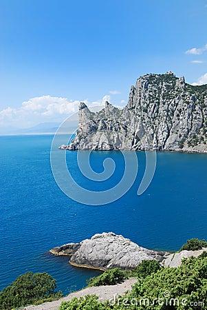 Guard mountain Karaul-Oba on the Crimean coast.
