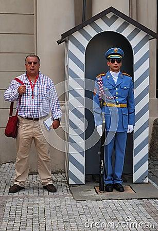 Guard Prague Editorial Image