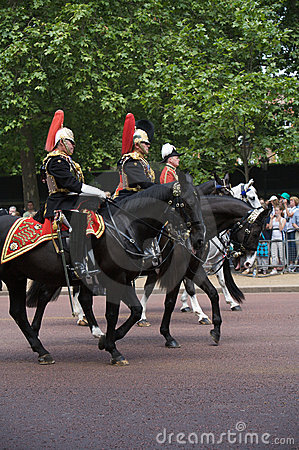 Guard royal, Trooping of the Colour, London Editorial Stock Photo