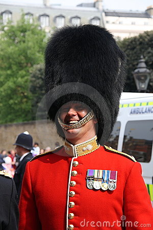 Guard at Royal Wedding 2011 Editorial Stock Photo