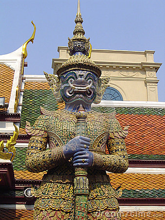 Free Guard Statue - Grand Palace Royalty Free Stock Images - 133089