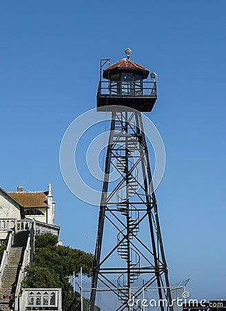 Free Guard Tower Of Alcatraz Stock Photos - 43446713