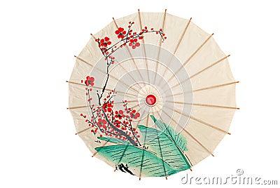 guarda chuva oriental isolado com flores vermelhas fotografia de stock imagem 8666902. Black Bedroom Furniture Sets. Home Design Ideas