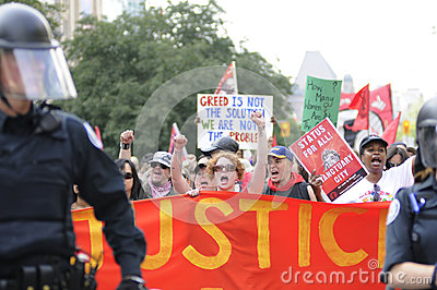 Guarded slogans. Editorial Image