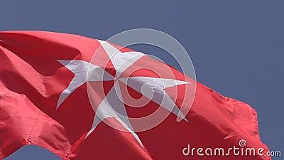 Guardiamarina Civile Della Bandiera Nazionale Della Fine Di Malta Su