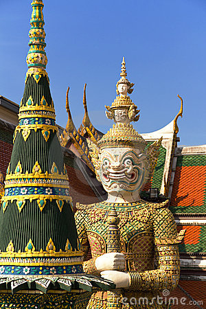 Free Guardian At Grand Palace And Temple, Thailand Royalty Free Stock Photo - 17870965