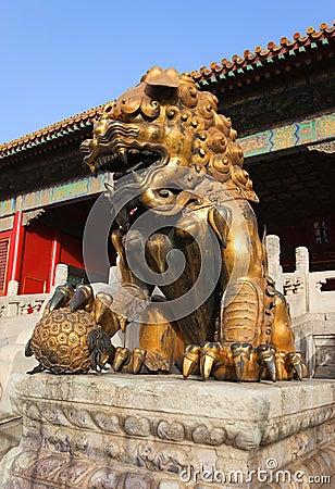 Guardian Lion. Forbidden City. Beijing. China