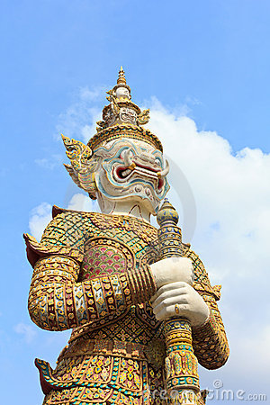 Guardian statue at the temple