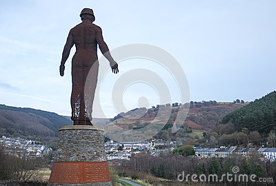 The Guardian of the Valleys, Welsh Landscape Editorial Image