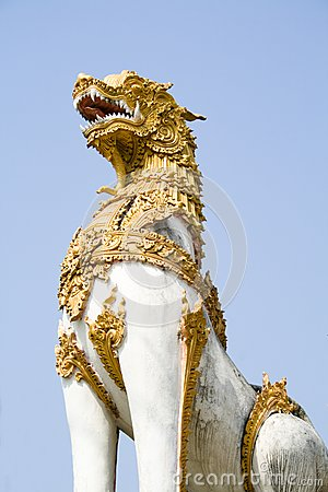 Guardian Singha statue