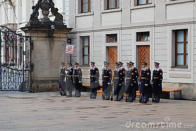 Guards change at Prague castle Editorial Photography