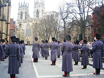 Guards on parade in York, England. Editorial Photo