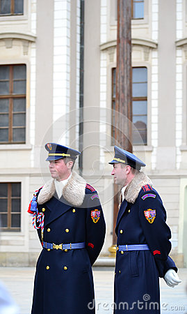 The guards on the place Editorial Stock Image