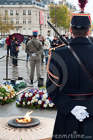 Guards on the unknown soldier tomb Editorial Photography