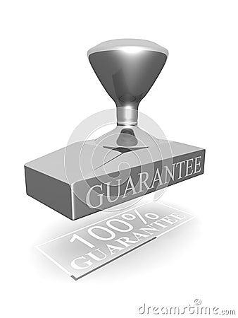 Guarnizione di garanzia di 100 per cento