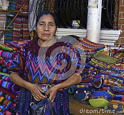 Guatemala Woman Editorial Stock Photo