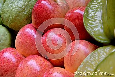 Guava Яблока, starfruit и яблока