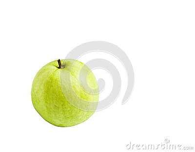 Guavas isolated on white background