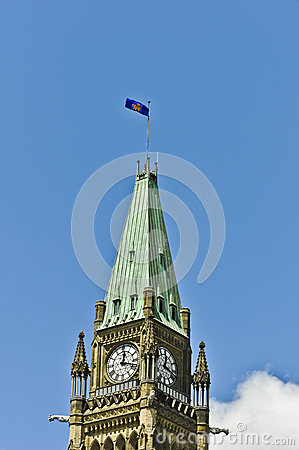 Gubernatora Generał Flaga na Pokoju Wierza Ottawa