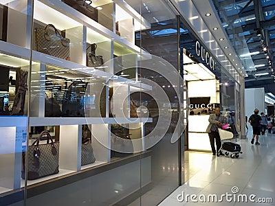 Gucci armazena Imagem de Stock Editorial