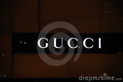 Gucci logo Editorial Stock Photo