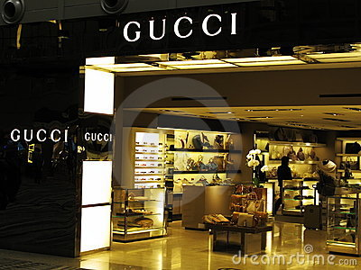 Gucci luxury brand Editorial Stock Photo
